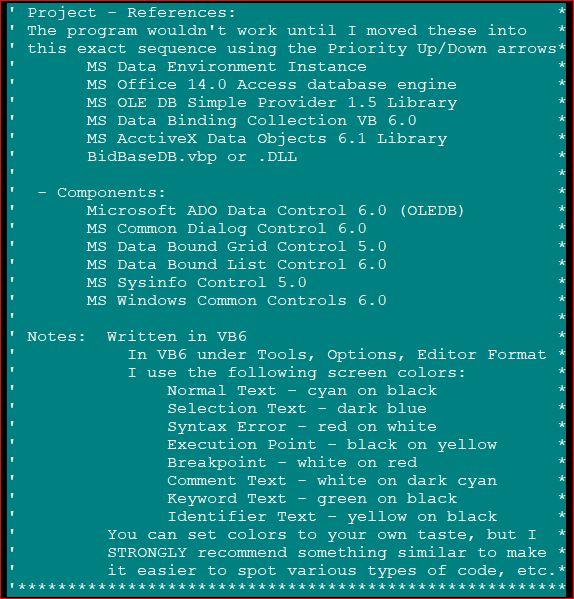 CardShark Bidder Programming Notes